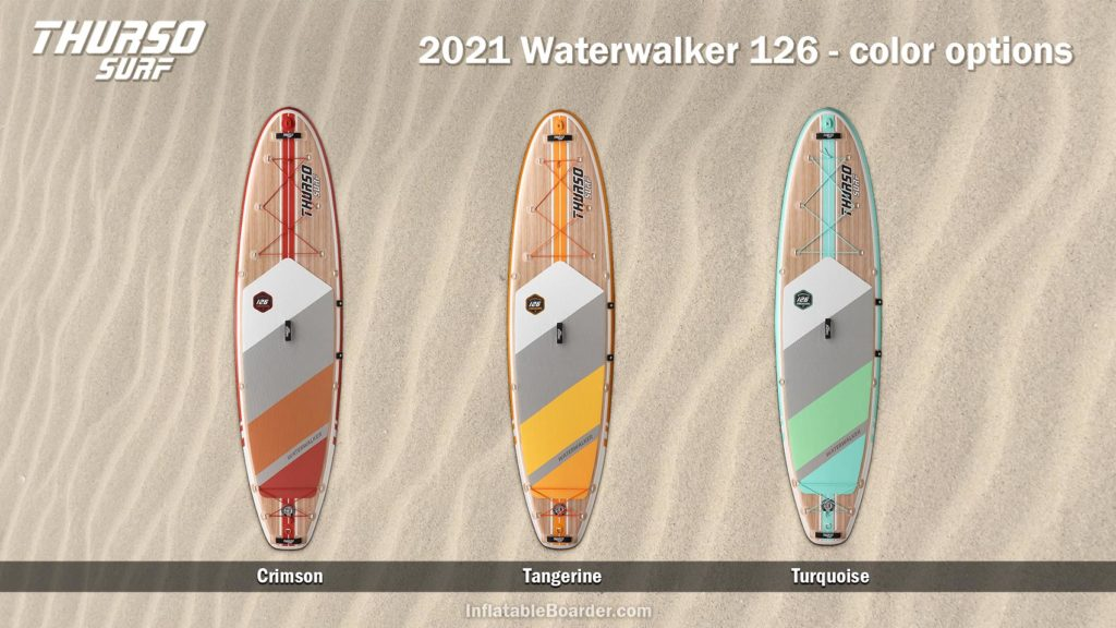 2021 Thurso Waterwalker 126 paddle board color options compared