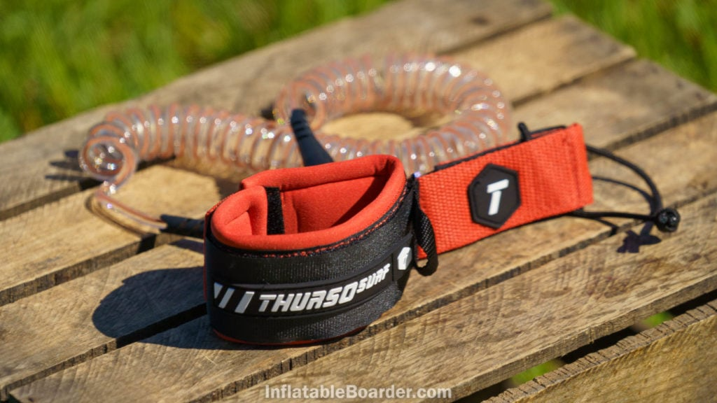 Waterwalker crimson red SUP leash.