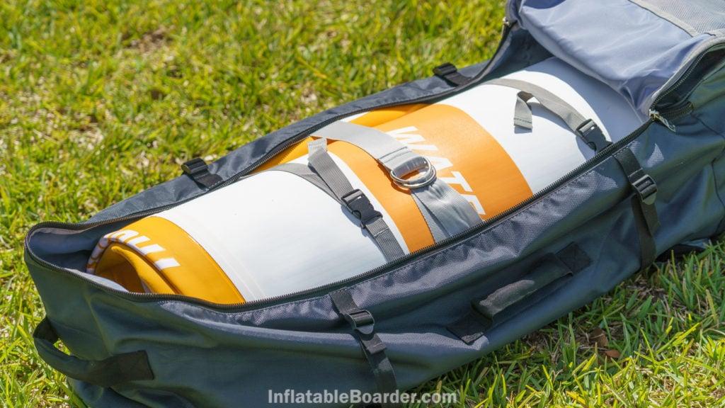 Waterwalker 132 bag inside with straps.