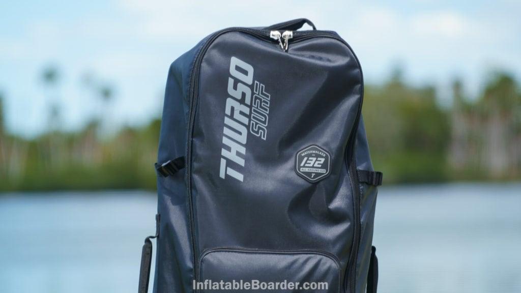 Waterwalker 132 bag top with logo and bag.