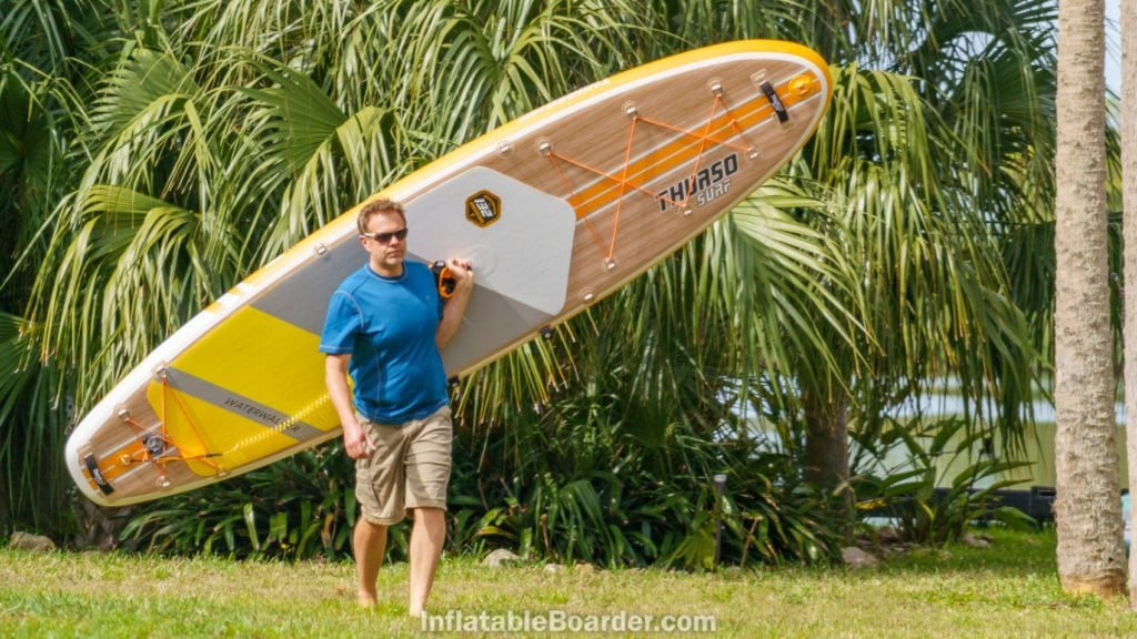 The Waterwalker 132 is lightweight enough to be comfortably carried over shoulder.