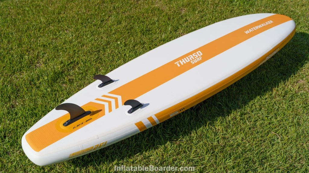 Bottom of the Waterwalker 132 in tangerine orange color.