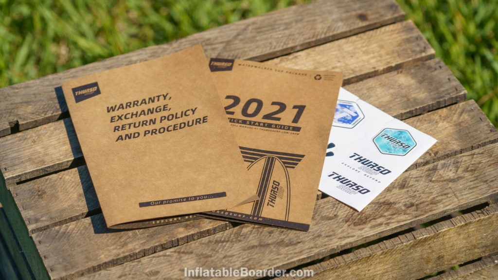 Warranty & exchange info, quick start guide printed on eco-friendly paper. Also includes sticker pack.
