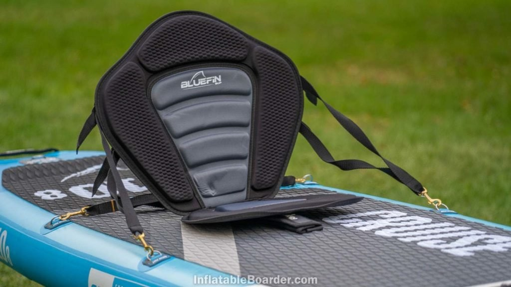Bluefin Cruise with the attached kayak seat accessories
