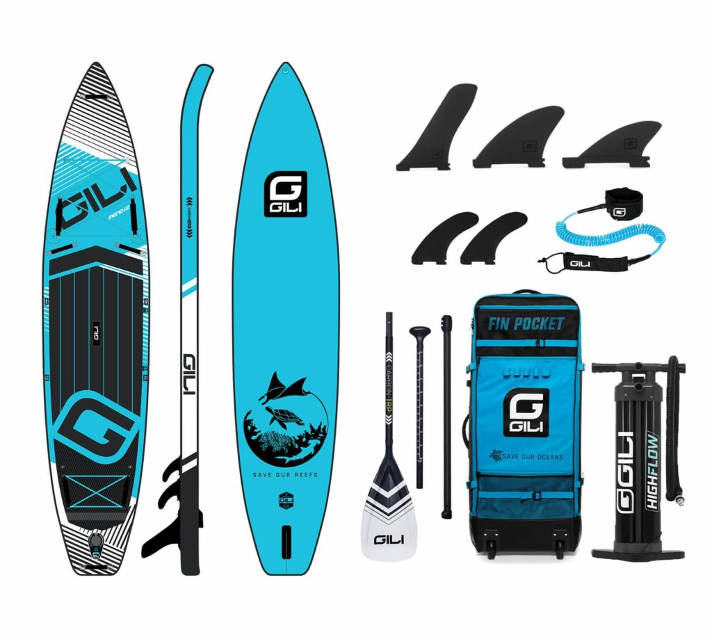 """GILI Meno 12'6"""" touring paddle board accessories package"""