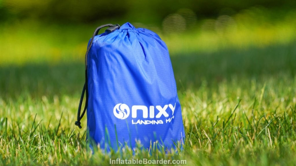 NIXY SUP Landing Mat in compact bag.