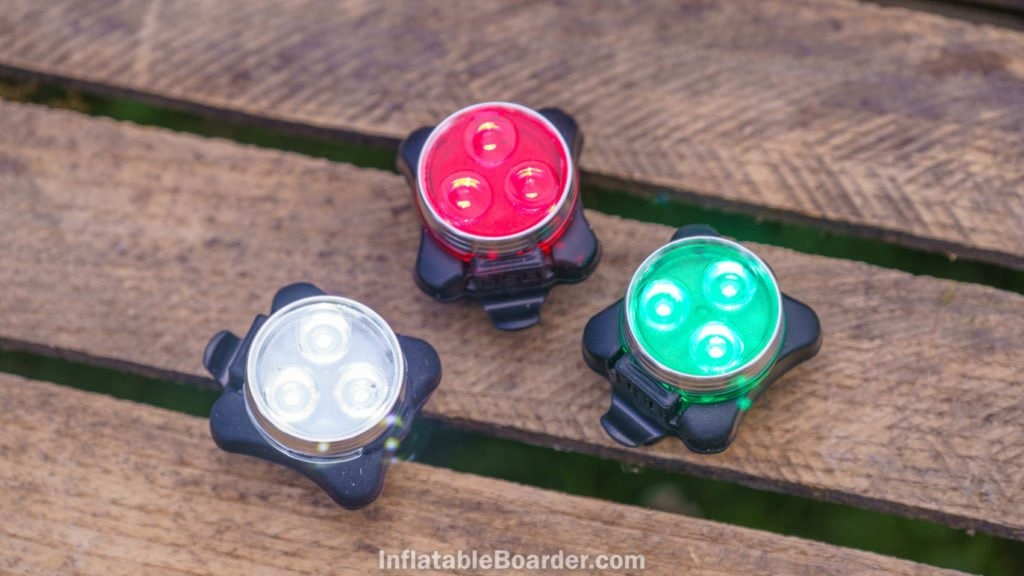 The NIXY SUP navigation lights are bright enough to be visible in daylight.