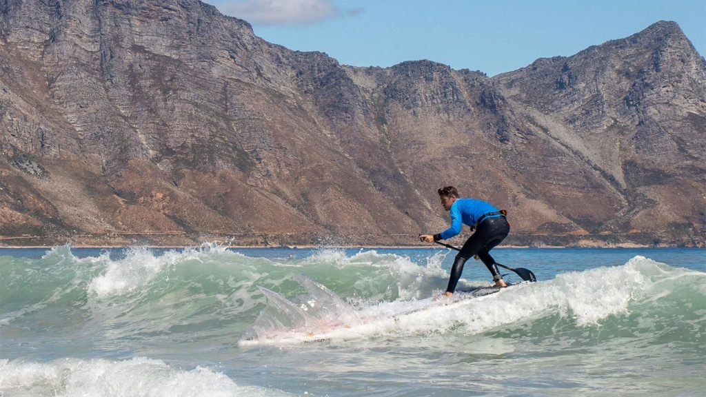 Surfing with the Thurso Expedition.